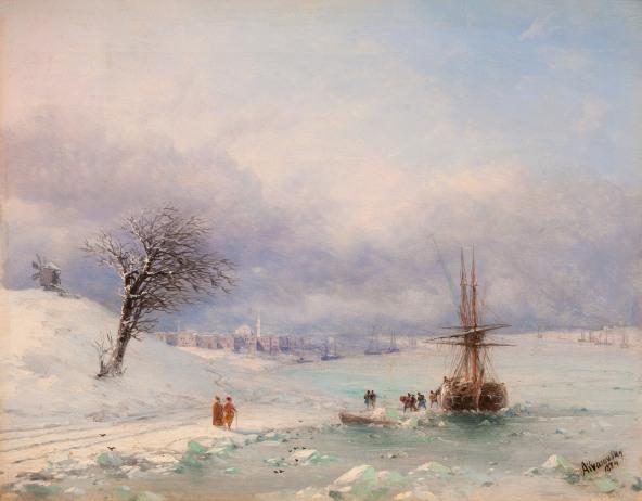 Ivan Aivazovsky: Frozen Bosphorus